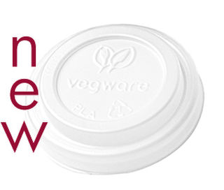 Hot Cup Lid 62mm CPLA (Fits 4oz Cup) - Vegware