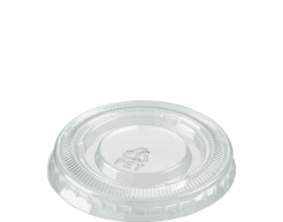 Small Portion Control Cup Lids (suit CA-P075 & CA-P100), Clear - Castaway