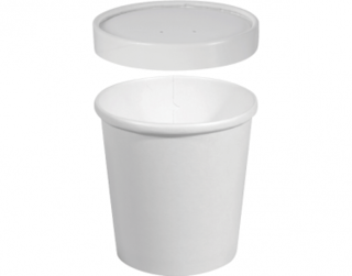 Heavy Weight Paper Containers & Vented Lids 16 oz Large - Castaway