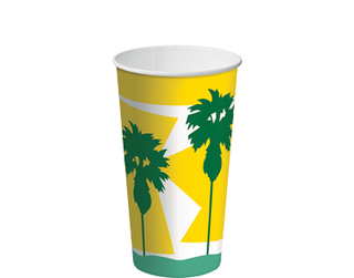 16oz Daintree' Paper Thickshake Cup - Castaway