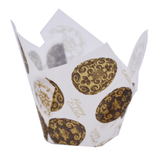 Texas Muffin Wrap - Gilded Egg (150 ctn) - Confoil