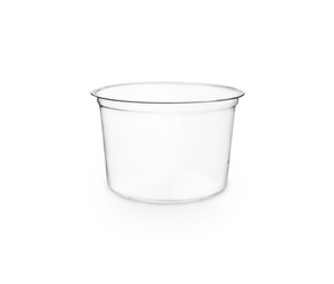 Deli Container Round PLA 16oz (600ml) - Vegware