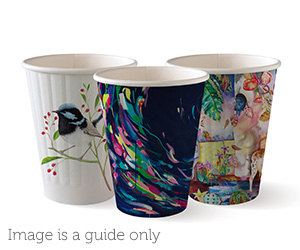8oz Coffee Cup Art Series (80mm) Double Wall - BioPak