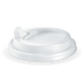 Hot Cup Lid Sipper Large 90mm (To Fit 12,16,20oz) White - BioPak