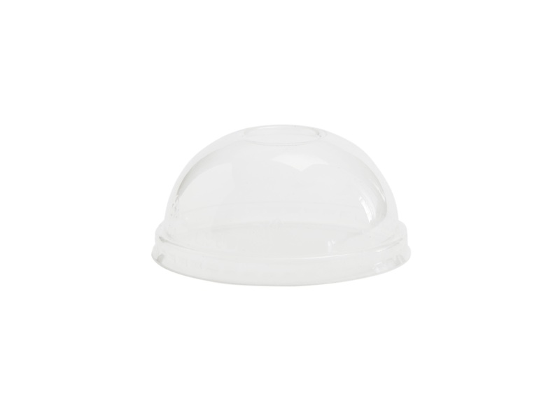 Hot/Cold Container Dome Lid 90mm (Fits 6-10oz) - Vegware