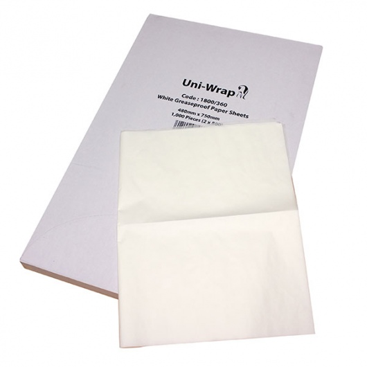 Emperor Greaseproof Paper Sheets - 35gsm - 480mm x 750mm - UniPak