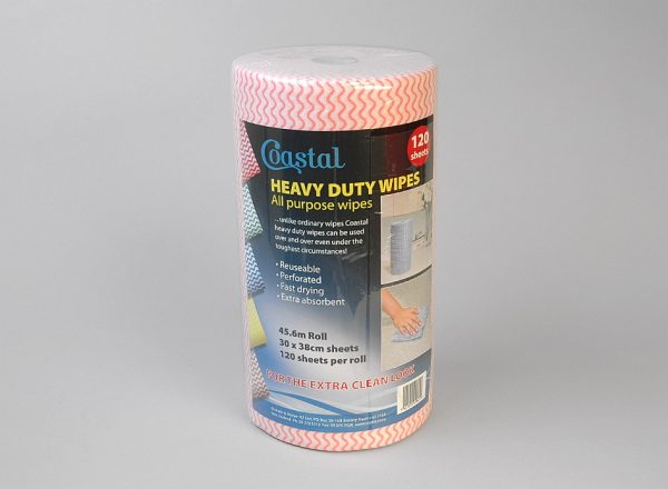Cleaning Wipes Heavy Duty Red - Coastal