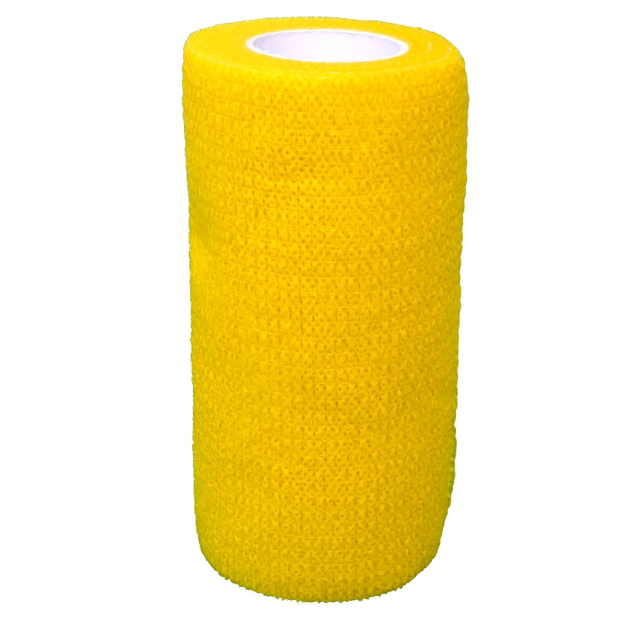 Cohesive Bandages YELLOW, 100mm x 4.5m