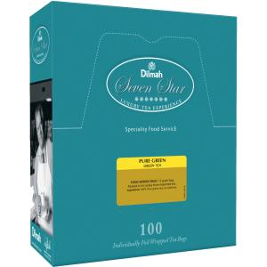 Dilmah Natural Pure Green Tea Bags Pkt100