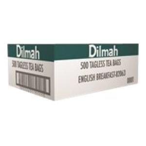 Dilmah English Breakfast Tagless Tea Bags Box 500