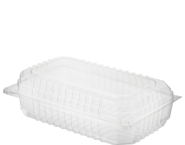 Eco-Smart' Clearview' Salad Pack Large, Hinged Lid, Clear - Castaway