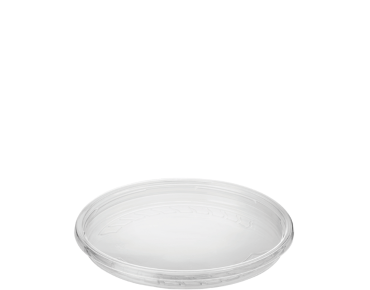 Round Deli Container Lid, Recessed, To Suit 8 - 32 oz, Clear - Castaway