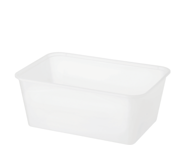 FreezaReady' Rectangular Containers, Large 1000 ml, Translucent - Castaway
