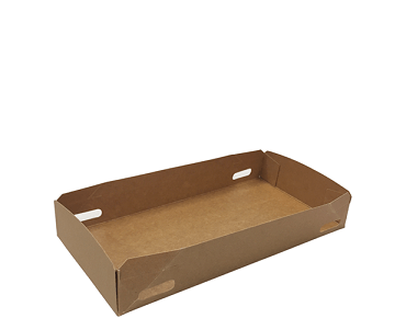 Vizione' Food Tray, Small, Brown kraft - Castaway