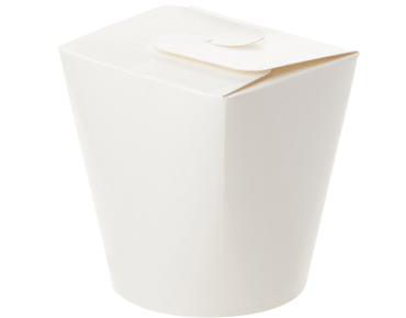 Round Paper Meal Pail 32oz, White - Castaway