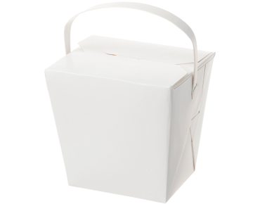 Paper Food Pail with Paper Handle 32oz Extra Large, White - Castaway