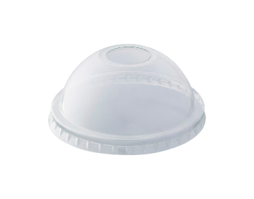 HiKleer' P.E.T Cold Cup Lid Dome, with straw hole (suit 7oz-10oz, 285 ml) - Castaway