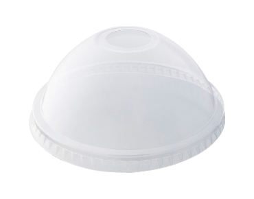 HiKleer' P.E.T Cold Cup Lid Dome, with straw hole (suit 16oz & 20oz) - Castaway