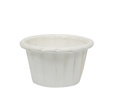 15ml Pleated paper pill cup, White - Castaway