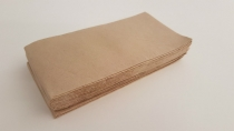 Serviette 2-ply unbleached Quilted 40x40cm dinner 1/8 fold - Vegware - Pack & Carton