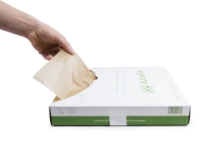 Wrap greaseproof unbleached - 30 x 30cm dispenser pack - Vegware - Pack & Carton