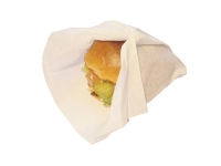 Wrap greaseproof T0 - 33x25cm 30gsm burger wrap - Vegware