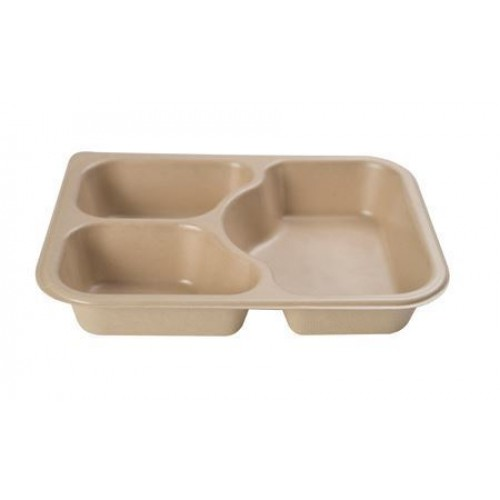 3 Cavity Shallow Meal Tray - Confoil